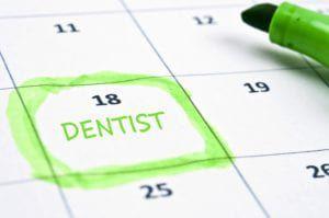 """Dentist"" marked on the calendar"