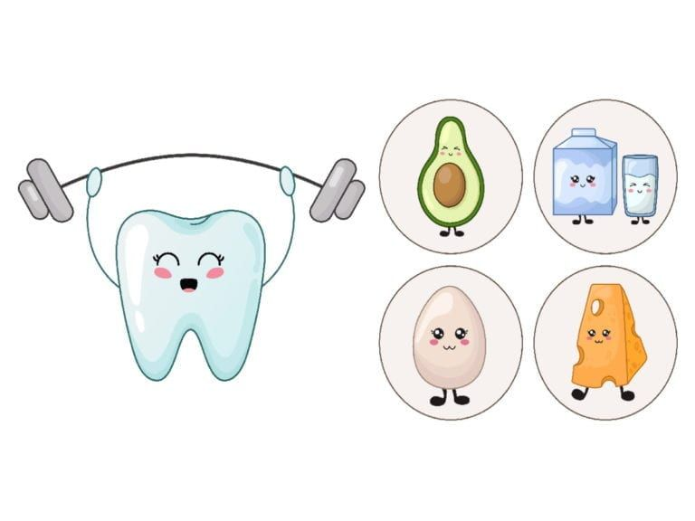 Strong Tooth With Healthy Foods